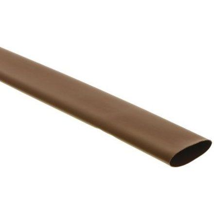 Zsugorcső 1,2/0,6-os vékonyfalú, ragasztó nélküli barna