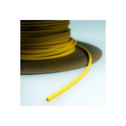 Zsugorcső 150/75-ös vékonyfalú, ragasztó nélküli sárga