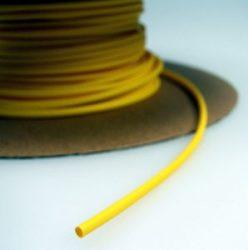 Zsugorcső 120/60-as vékonyfalú, ragasztó nélküli sárga