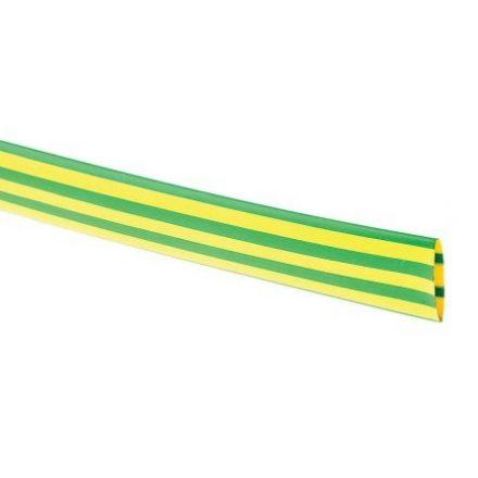 Zsugorcső 120/60-as vékonyfalú, ragasztó nélküli zöld/sárga